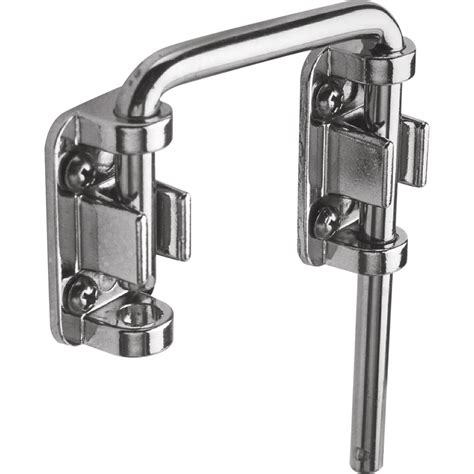 Patio Door Locking Systems Prime Line Patio Chrome Sliding Door Loop Lock U 9847 The Home Depot