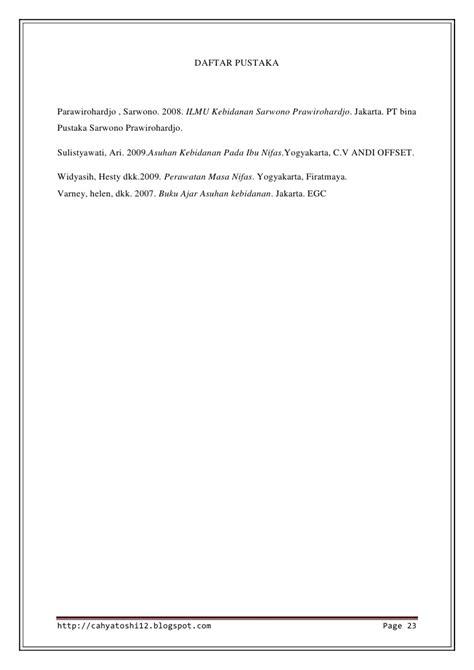 makalah rancangan format pendokumentasian makalah nifas