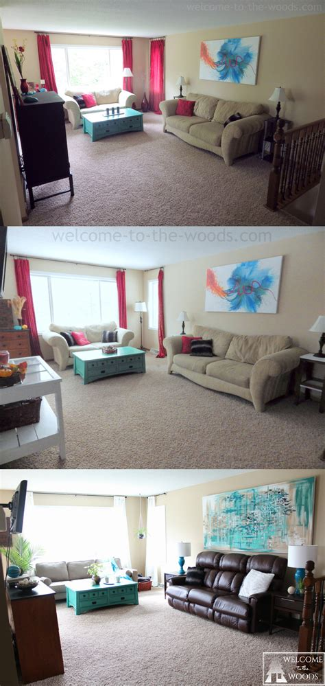 room transformation living room makeover spring home decor welcome to the woods