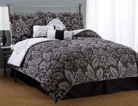 damask comforters black and white bedspreads decorating ideas