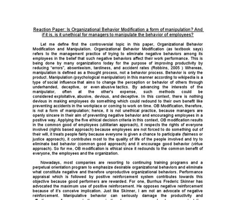 Behavior Modification Bandura by Behavior Modification Paper Principles Of Behavior