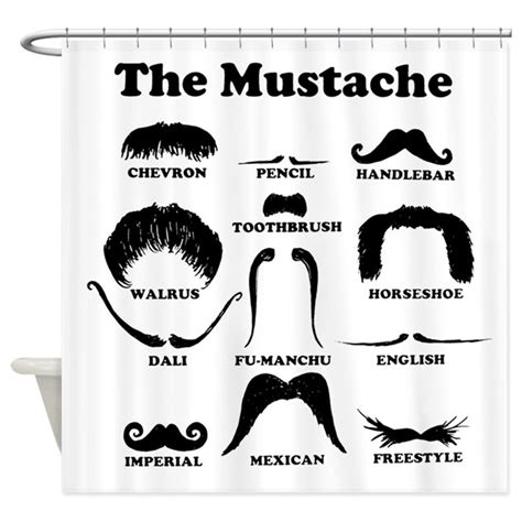mustache shower curtain the mustache shower curtain by intheknowapparel
