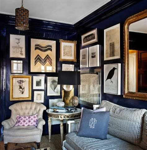 navy blue room accents interiors b a s blog navy walls from pinterest elements of style blog