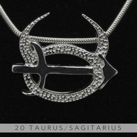 the taurus and sagittarius silver unity pendant