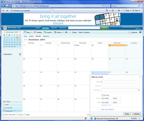 Calendar Live Windows Live Calendar