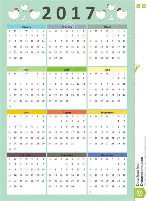 doodle kalender creative calendar 2017 year chicken family style doodle