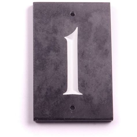 buy house nameplate company slate number plaque 1 at