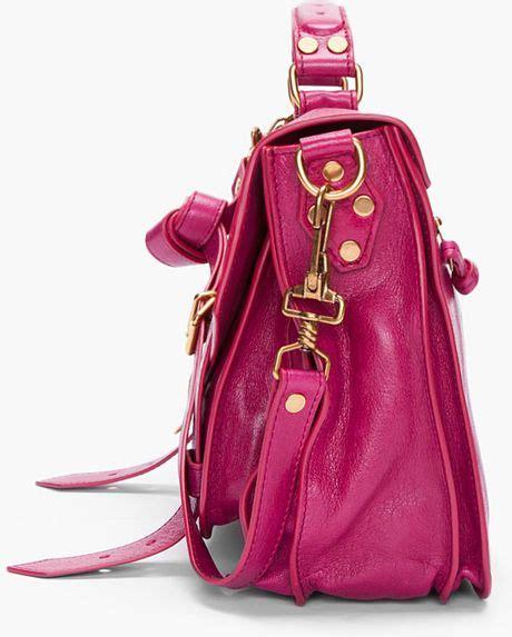 Proenza Pink by Proenza Schouler Ps1 Medium Purple Satchel In Pink Purple