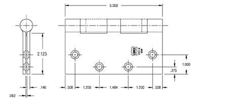 standard door hinge size 5 x 5 bearing hinge bommer bb5000 500 doorware
