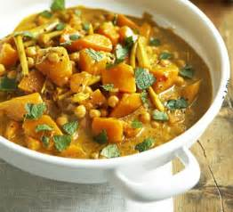 Root Vegetable Curry - pumpkin curry with chickpeas bbc good food