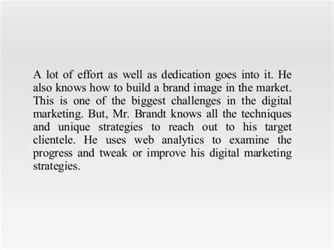 Of Connecticut Mba In Digital Marketing by Brandt Of Fairfield Ct Has Comprehensive Knowledge