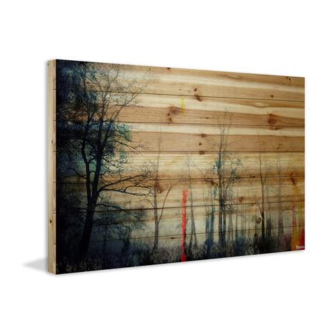 Wood Poster Poster Kayu Kayu Pinus 24 X 18 Cm Desain Standar one tree pine wood 36 quot w x 24 quot h x 1 5 quot d fantastic forests touch of modern