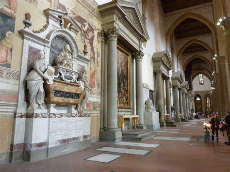 santa croce firenze interno escuela toscana visita el pante 211 n de las glorias italianas