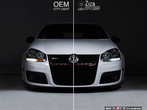 vw gti led lights ecs ziza led performance lighting vw mk5 gti