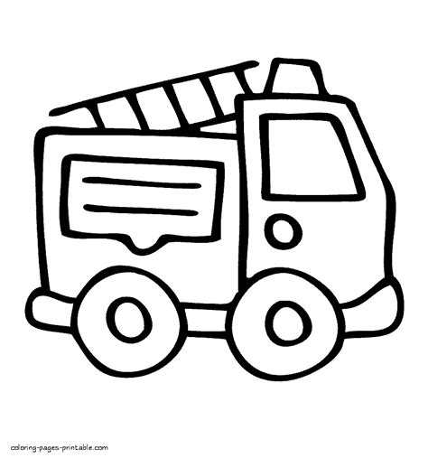 simple fire truck coloring page very easy coloring page of fire truck