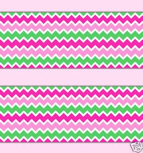 Jw Wallborder Pink Green Background pink mint green chevron wallpaper border wall decal baby nursery room decor ebay