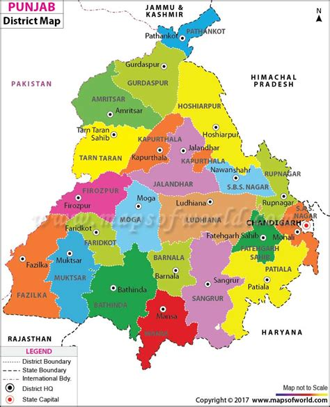 map of punjab punjab map districts in punjab