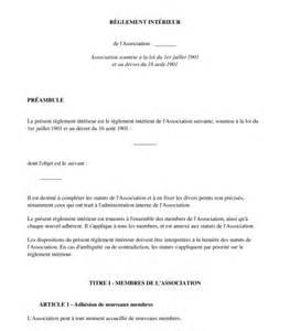 r 232 glement int 233 rieur d association mod 232 le word et pdf