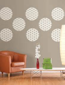 diy living room wall decor idea with polka dots decoist