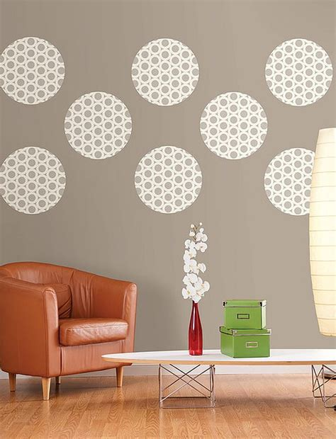wall decor for living rooms diy living room wall decor idea with polka dots decoist