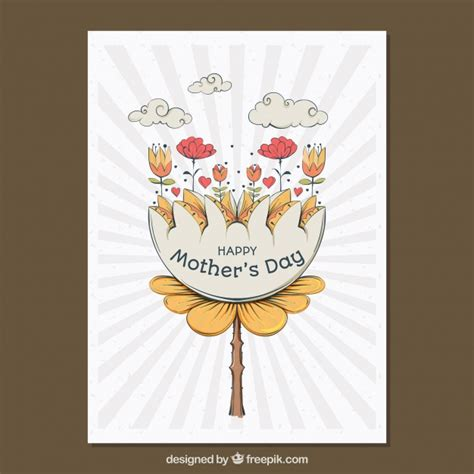 mother day greeting card design greeting card with pretty design for mother s day vector