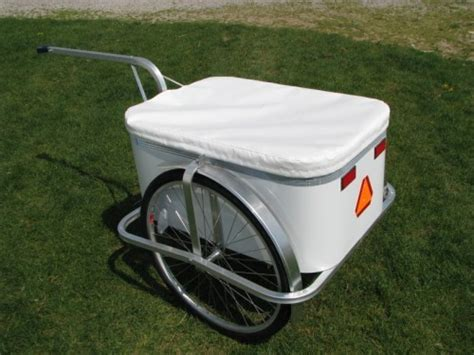 bicycle cargo trailer  aluminum sides seat donut hitch