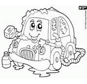 Een Kleine Auto In Wassen Kleurplaat