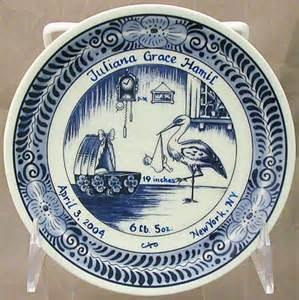 personalized birth plates a touch of personalized birth plate 6 quot
