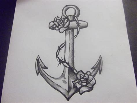 anchor and rose tattoos 24 anchor designs