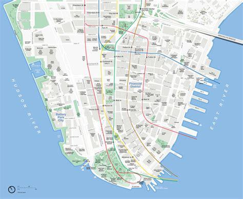 map manhattan map of downtown manhattan my