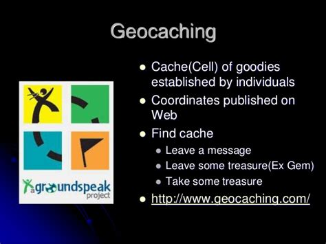 geocaching tutorial powerpoint gps introduction