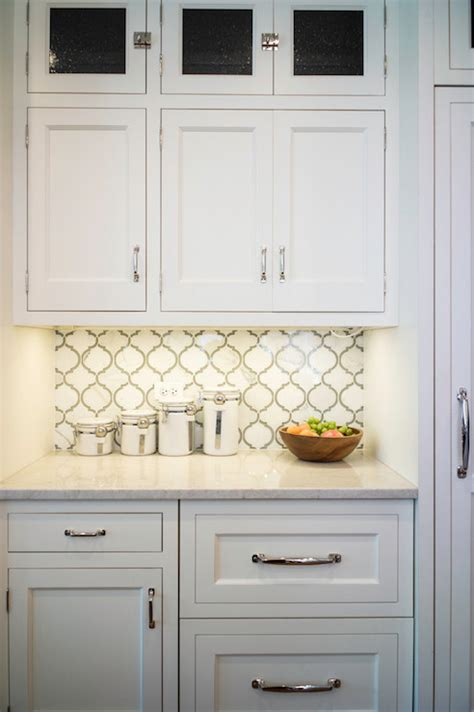 moroccan tile backsplash transitional kitchen