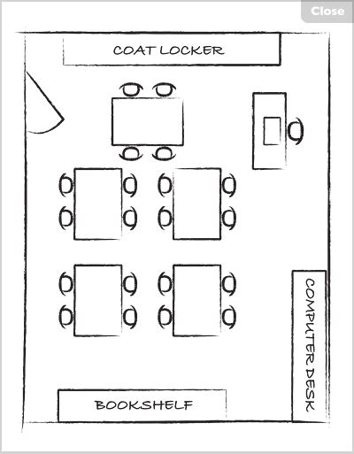 Draw Your Own Floor Plan classroom map hunt at lakeshore learning