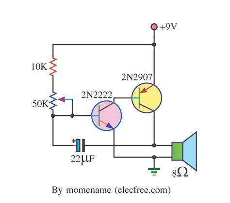 capacitor generator diagram simple tone oscillator 22mf capacitor