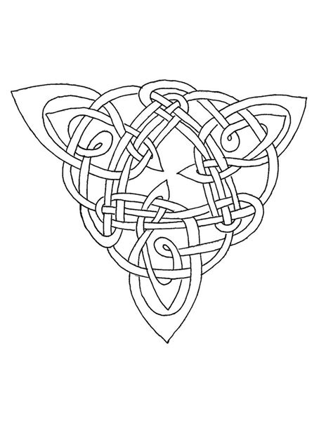 celtic coloring triangle iv by artistfire on deviantart