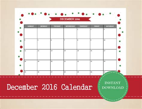 printable holiday planner 2016 printable and editable december 2016 calendar by