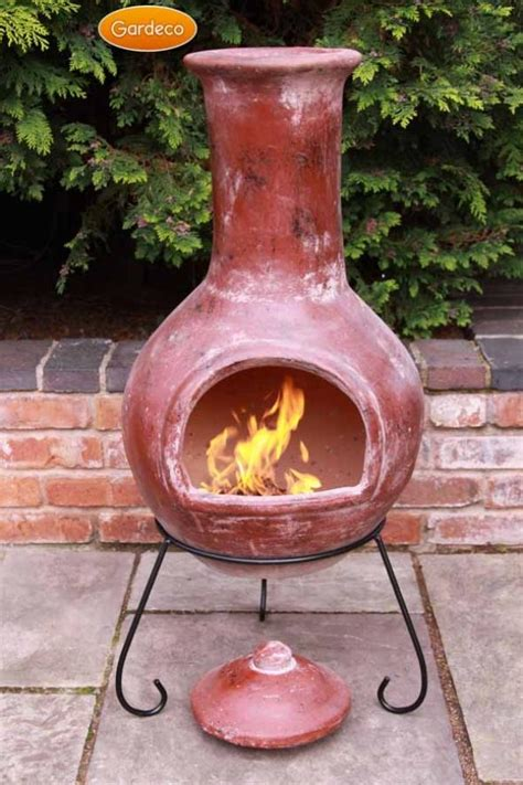 chiminea indoor colima clay chiminea by gardeco large and x large sizes