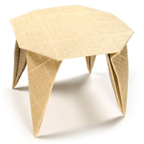 Origami Folding Table - how to make a origami dining table page 1