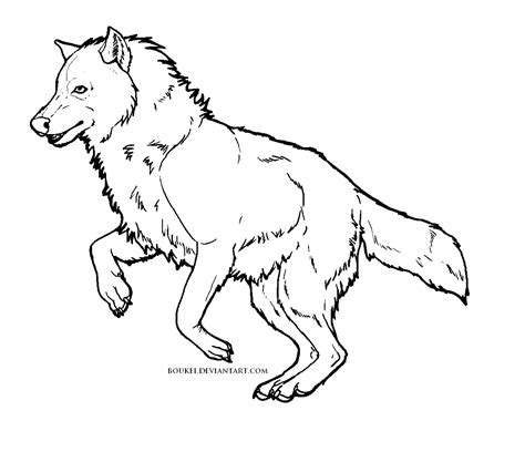 free wolf template by boukei on deviantart