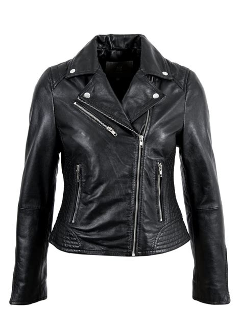 leather jackets leather biker jacket in black lakeland leather
