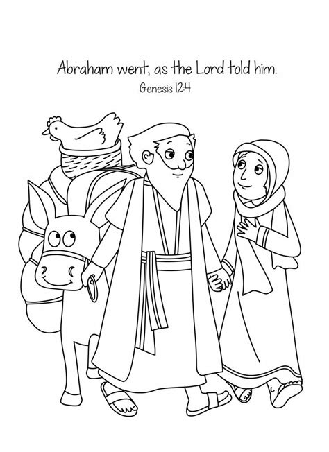 Abraham and Sara A New Home Bible Coloring Page Free