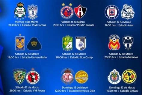 Calendario De Juegos Liga Mx Jornada 10 Liga Mx Conoce Los Partidos Y Horarios De La Jornada 10