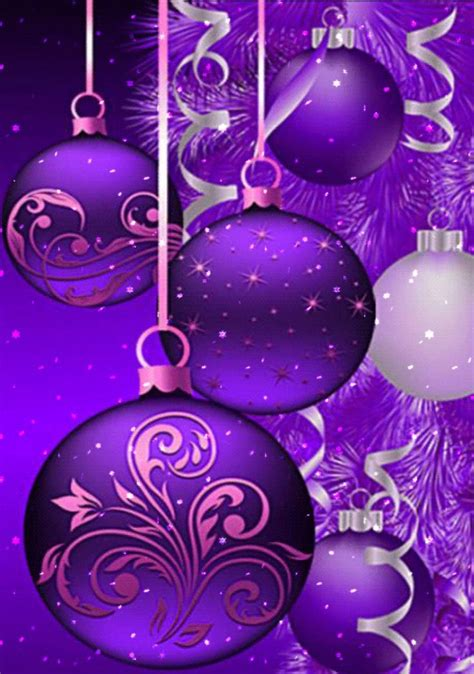 429 best purple for christmas images on pinterest xmas