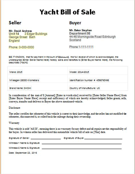 boat bill of sale ireland vehicle yacht horse electronic bill of sales document hub