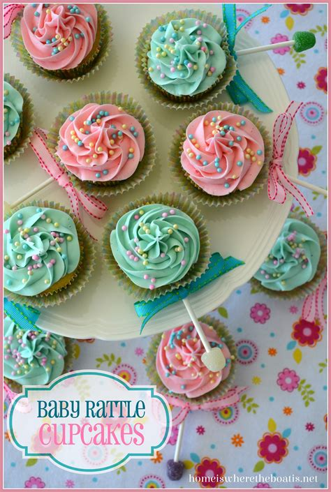 baby shower rattle cupcakes baby rattle cupcakes home is where the boat is