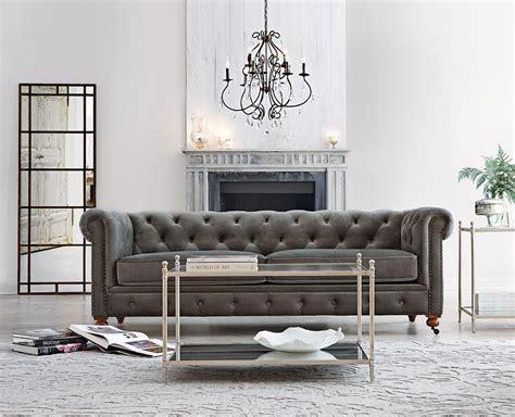 gordon tufted sofa tufted grey sofa boy sofa in regal smoke i