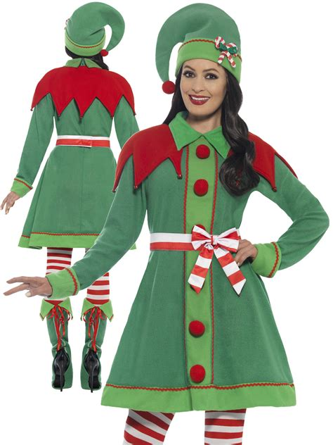 ladies deluxe miss elf costume adults santas helper