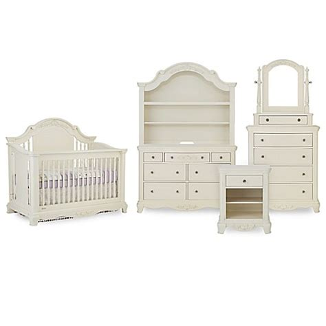 bassettbaby premier addison nursery furniture collection  pearl white buybuy baby