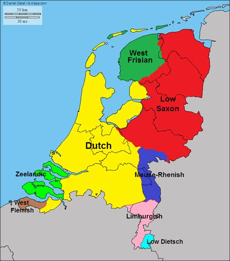 main languages  dialects   netherlands maps