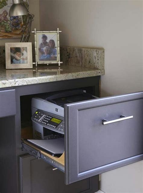 hidden printer cabinet 20 creative home office organizing ideas hative